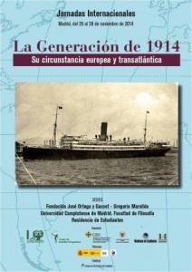 Cartel Jornadas Internacionales. La Generación de 1914.